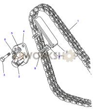 Timing Chain & Mechanical Tensioner Part Diagram