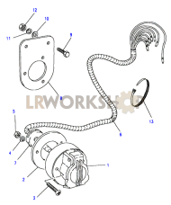 Towing Electrics - Trailer Socket Part Diagram