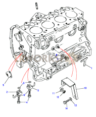 Cylinder Block (Cont) Part Diagram