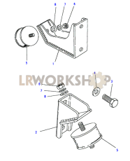 Engine Mountings Part Diagram