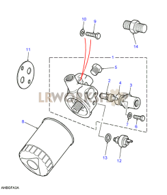 Oil Filter with Oil Cooler Part Diagram