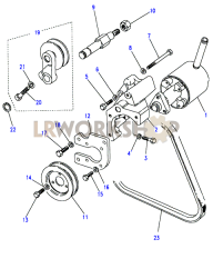 Power Steering Pump-Adwest Part Diagram