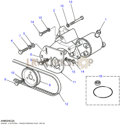 Power Steering Pump-Hobourn Eaton Part Diagram