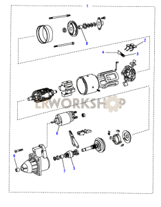 Starter Motor-Bosch Part Diagram