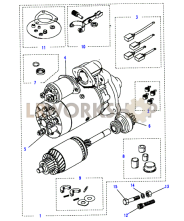 Starter Motor-Lucas-Type M113 Part Diagram