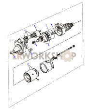 Starter Motor-Lucas-Type M47 Part Diagram