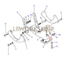 Air Conditioning Compressor Fixings Part Diagram