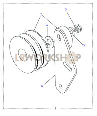 Air Conditioning Idler Pulley Part Diagram