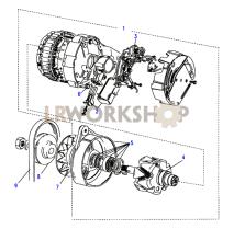 Alternator - 65Amp Part Diagram