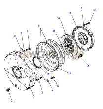 Clutch & Flywheel Part Diagram