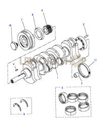Crankshaft & Bearings Part Diagram