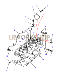 Cylinder Head components Part Diagram