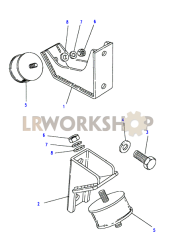 Engine Mountings - Front Part Diagram