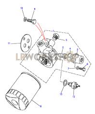Oil Pump & Filter Part Diagram