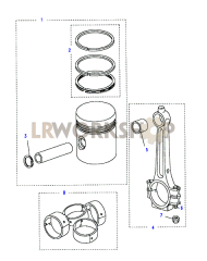 Piston & Rings Part Diagram