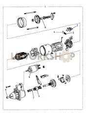 Starter Motor Part Diagram