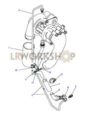 Turbocharger Pipes Part Diagram