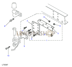 Towing Equipment - Towing Jaw/Ball Fixings - Direct to Crossmember Part Diagram