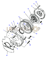 Flywheel & Clutch Part Diagram