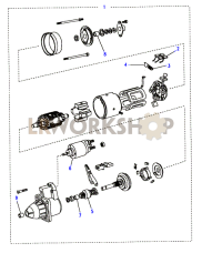 Starter Motor Bosch Part Diagram