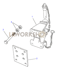 Towing Equipment - Towing Pintle - Heavy Duty Part Diagram