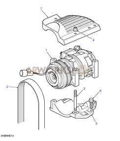 300tdi air conditioning compressor part diagram