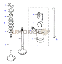 Valves & Tappets Part Diagram