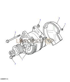 300tdi alternator part diagram