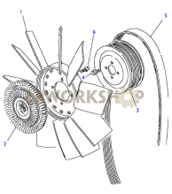 Cooling Fan & Belt Part Diagram