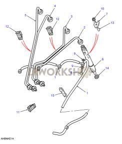 Injectors & Pipes Part Diagram