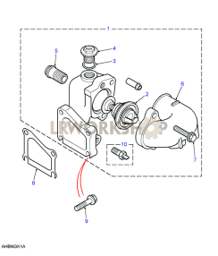Thermostat Housing Part Diagram