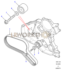 Timing Belt & Tensioner Part Diagram