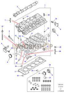 Cylinder Head Part Diagram