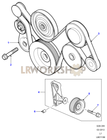 Drive Belt on 2002 Land Rover Discovery Engine Diagram