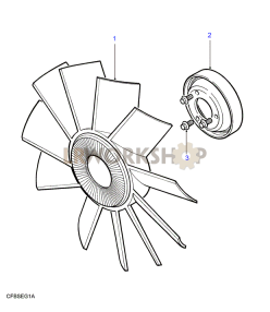 Fan & Viscous Unit Part Diagram