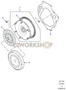 Flywheel - Manual Part Diagram