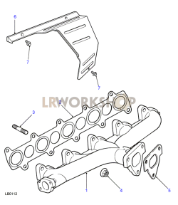 Manifold Exhaust Part Diagram