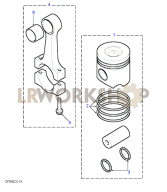 Piston & Rings Part Diagram