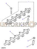 Rocker Shaft - Fuel Injectors Part Diagram