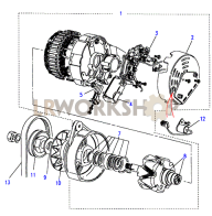 Alternator Part Diagram