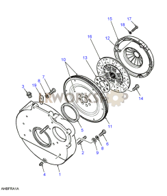 Clutch & Flywheel Part Diagram