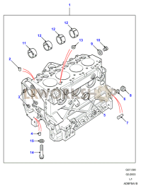Cylinder Block Part Diagram
