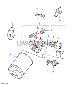 Filter with Oil Cooler Part Diagram