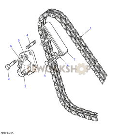 Timing Chain & Tensioner Part Diagram