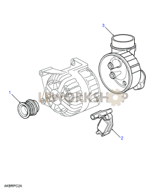 Alternator Pulley Part Diagram