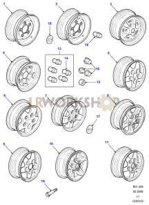 Road Wheels Part Diagram