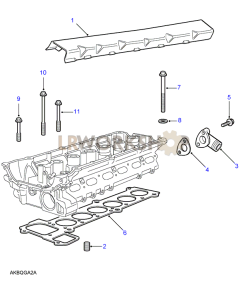 Cylinder Head Bolts & Gasket Part Diagram