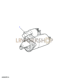 Starter Motor Part Diagram