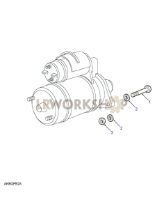 Starter Motor Fixings Part Diagram