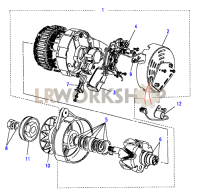 Alternator-A133/65Amp Part Diagram